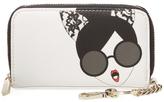 Alice + Olivia Stacey Cat Face Zip Around Wallet