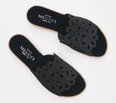 Sesto Meucci Perforated Nubuck Leather Slide Sandals - Sarny