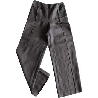 Chanel \N Brown Linen Trousers
