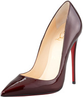 Christian Louboutin So Kate Patent Leather Point-Toe Pump, Rouge Noir