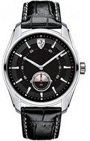 Ferrari Scuderia GTB Black Dial SS Leather Multi Quartz Male Watch 830231