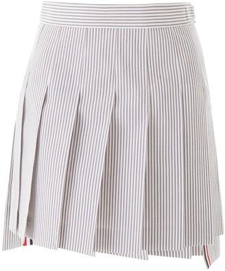 Thom Browne Striped Pleated Skirt