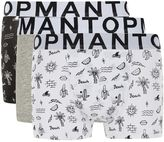 Topman Assorted Colour Beach Print Trunks 3 Pack*