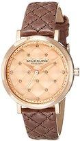 Stuhrling Original Women's 462.03 Audrey Analog Display Quartz Brown Watch