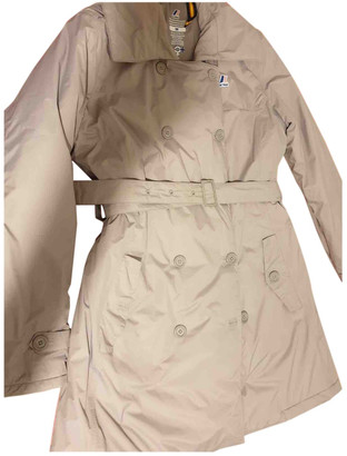 K-Way Beige Polyester Coats