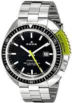 Edox Men's 53200 3NVM NIN Hydro Sub Analog Display Swiss Quartz Silver Watch