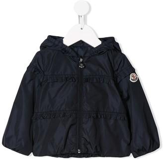 Moncler Enfant Ruffle Detail Rain Coat