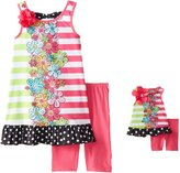 "Dollie & Me Big Girls' ""Flower Tower"" 2-Piece Outfit with Doll Outfit"