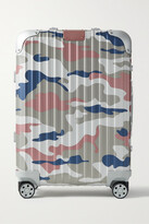 Thumbnail for your product : Rimowa Original Cabin 55cm Camouflage-print Aluminum Suitcase - Pink
