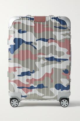 Rimowa Original Cabin 55cm Camouflage-print Aluminum Suitcase - Pink