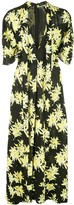 Proenza Schouler Splatter Floral Short Sleeve Tie Dress