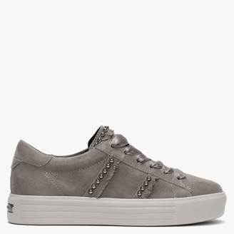 Kennel + Schmenger Up Taupe Suede Studded Trainers