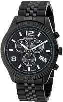 Akribos XXIV Men's AK799BK Swiss Chronograph Quartz Movement Watch with Black Dial and Bracelet