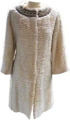 Giuliana Teso Beige Mink Coat for Women Vintage