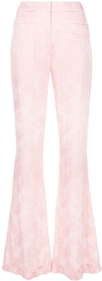 REJINA PYO Jacquard Flared Trousers