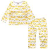 Kids Tales Baby Boy Girl Cartoon 2 PCS Pajama Set 100% Cotton(Size 4-24 Months)