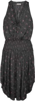 Ulla Johnson Shirred Floral-print Crepe De Chine Midi Dress