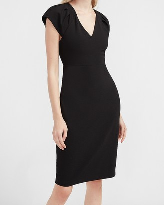 Express Ruched Shoulder Sheath Dress