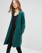 Minimum Amani Drapey Jacket In Teal