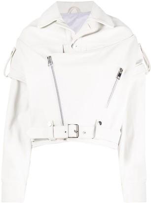 Manokhi Deconstructed Leather Jacket