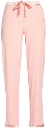 I.D. Sarrieri Satin-trimmed Modal-blend Jersey Pajama Pants
