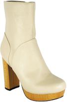 C Label Beige Platform Ankle Boot