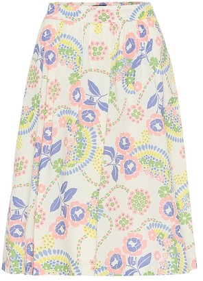 A.P.C. Ravenna floral cotton skirt