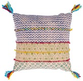 Karma Living Block Printed Pillow - 18 x 18 - Lime/Turquoise