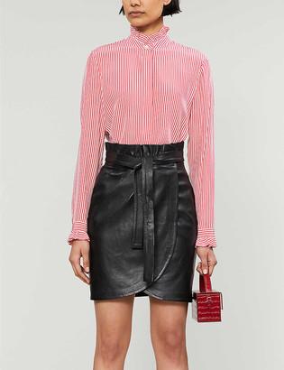 Claudie Pierlot Colombine Raye striped crepe shirt