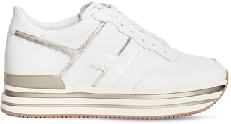 Hogan 40mm H483 Leather Platform Sneakers