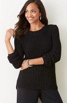 J. Jill Linear-Stitch Sweater