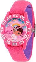Disney Doc McStuffins Girls Pink Strap Watch-Wds000284