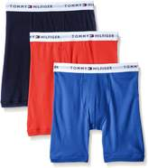 Tommy Hilfiger Men's 3-Pack Cotton Boxer Brief (Solid)