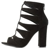Charlotte Russe Caged Cut-Out Dress Sandals