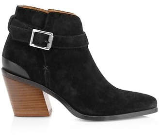 Rag & Bone Ramone Buckle Suede Ankle Boots