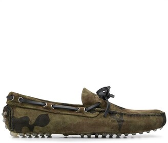 Car Shoe Camouflage Lace-Up Loafers