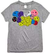Flowers by Zoe Girls' Ladder Front Emoji Tee - Big Kid