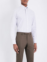Drakes Slim-fit striped Oxford shirt