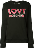 Love Moschino logo sweatshirt - women - Cotton - 42