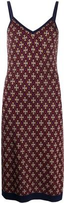 Temperley London Madame tile-jacquard midi dress