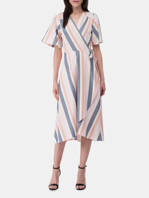 Bobeau Orna Wrap Dress