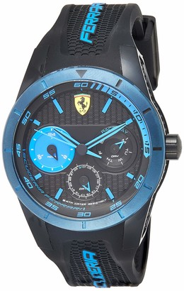 Ferrari Men's 0830256 REDREV T Analog Display Japanese Quartz Black Watch