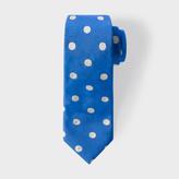 Paul Smith Men's Blue Polka Dot Narrow Silk Tie