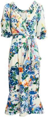 Saloni Olivia Begonia Floral Dress