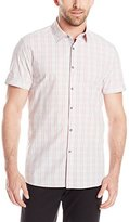 Kenneth Cole New York Kenneth Cole Men's Short Sleeve Glen Plaid Check