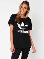 adidas New Womens Boyfriend Trefoil Tee In Black Tops & T Shirts Logo