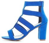 Charlotte Russe Wide Width Strappy Caged Sandals
