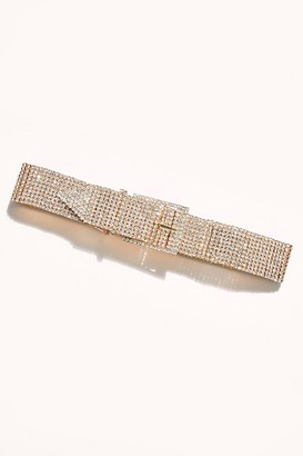 B-Low the Belt Farah Gold Rhinestone Belt
