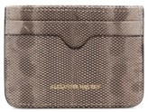 Alexander McQueen Women's Genuine Snakeskin Card Case - White