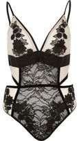 River Island Womens Nude lace appliqué body